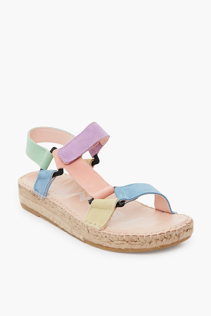 suede rose hiking sandals
