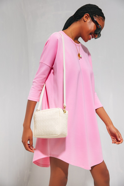 pink swing sweatshirt dress