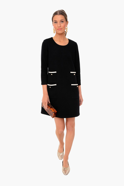 black francoise mod mini dress