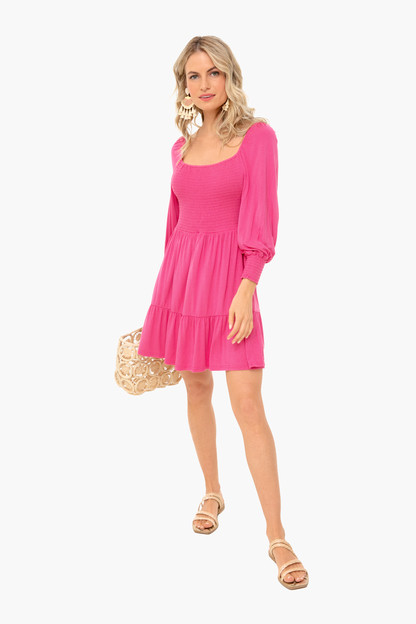 raspberry let's go crazy dress