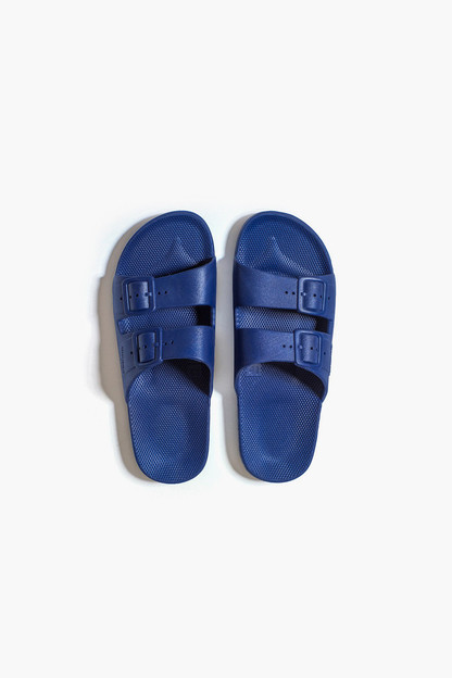 kid's navy moses sandals