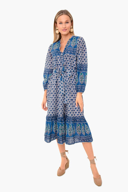indigo heirloom dress