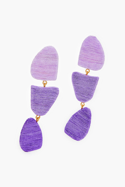 lilac callan drop earrings