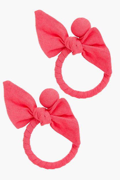 azalea pink knot maris earrings