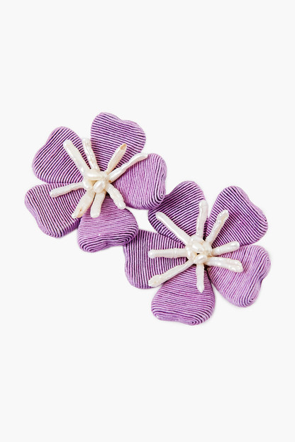 Lilac Fleur Earrings