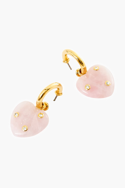rose lourdes earrings