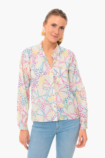 floral cross stitch phoebe blouse