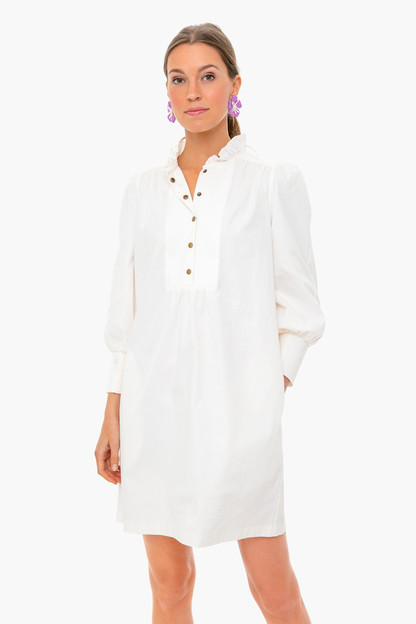white claiborne dress