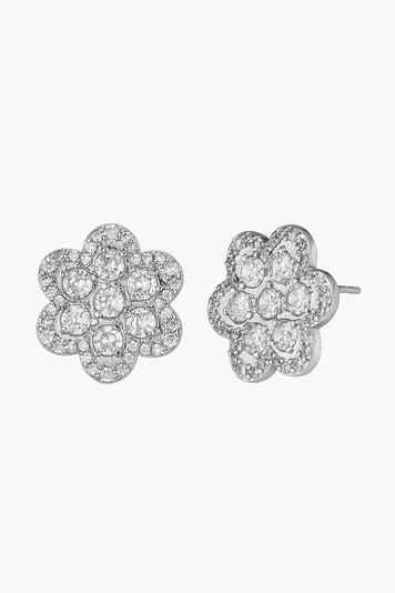 white gold delphine pave stud earrings
