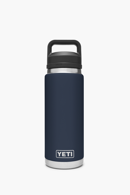 navy rambler 26oz bottle with chug cap