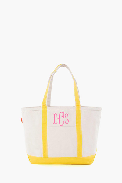 yellow medium boat tote