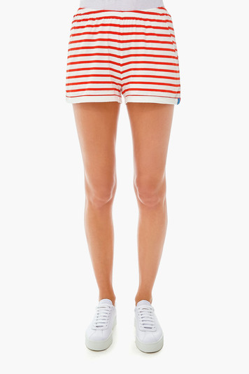 the white and poppy shorts