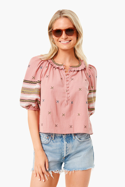 rosette clementine top