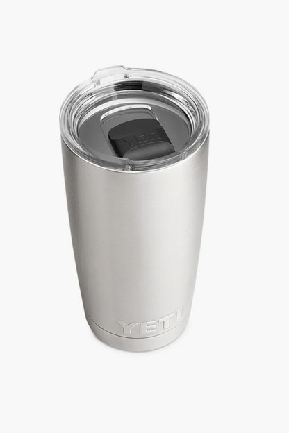 silver rambler 20oz tumbler with magslider lid