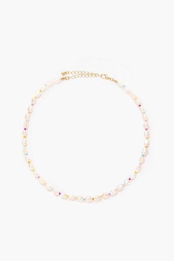 rainbow pearl necklace