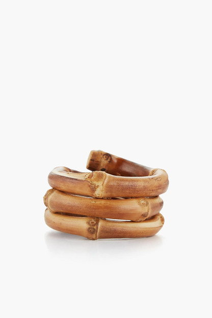 bamboo napkin rings (set of 4)