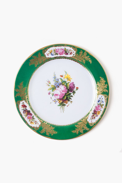 sevres green tin plate