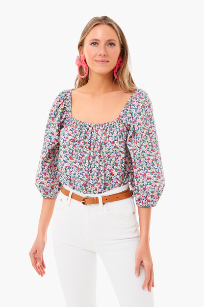 ditsy floral brooks blouse