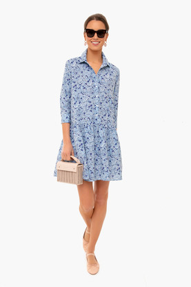 hydrangea hayes shirt dress