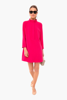fuchsia stretch crepe avery dress
