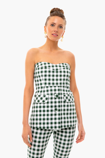 green gingham marnie top