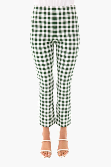 green gingham ashford pants