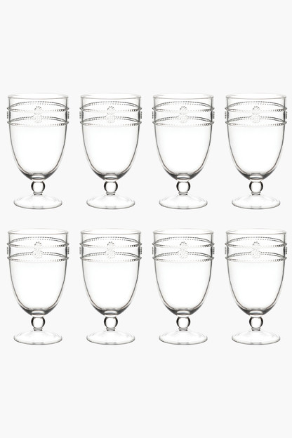 isabella acrylic goblet (set of 8)