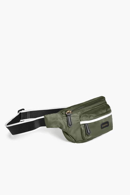 safari green fold up belt bag