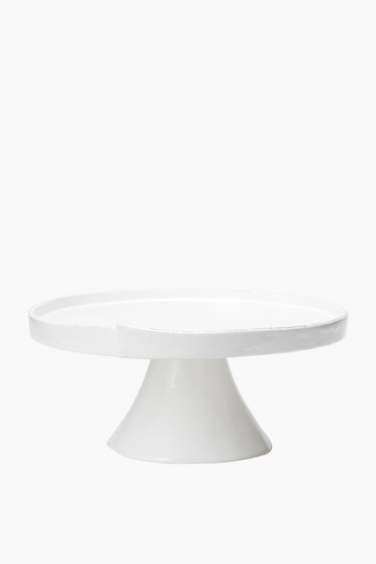 lastra white large cake stand
