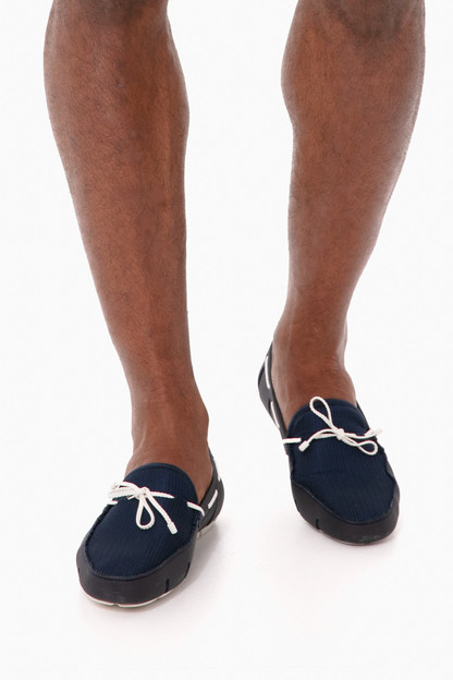 braided lace loafer