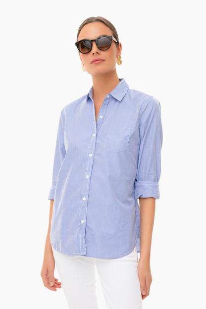Blue and White Grace Classic Shirt