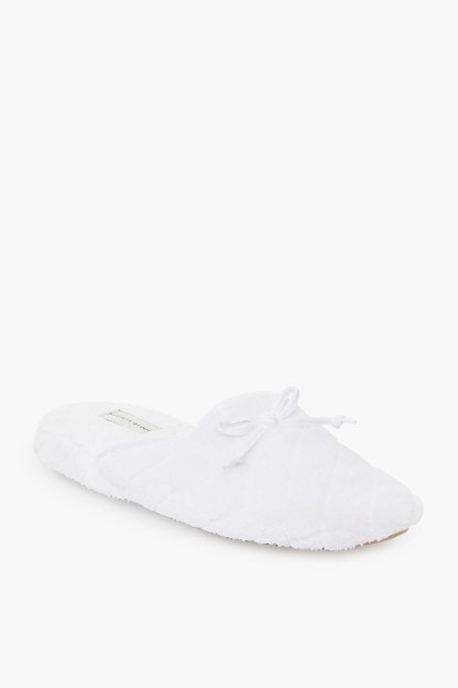 white chloe microterry slide