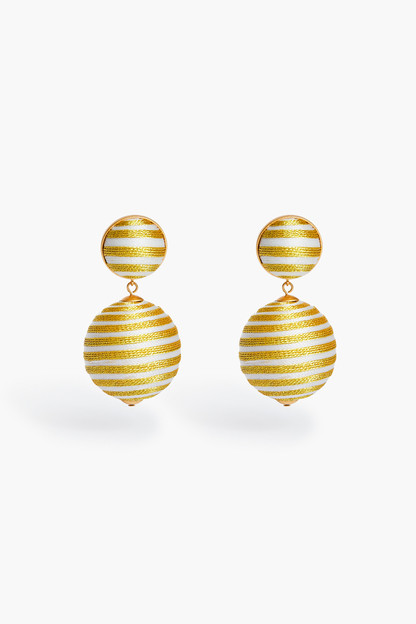 ivory and gold lantern earring