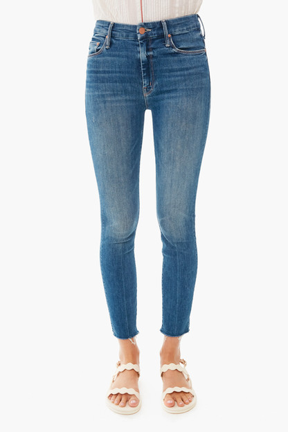 walking on coals high waisted looker ankle fray