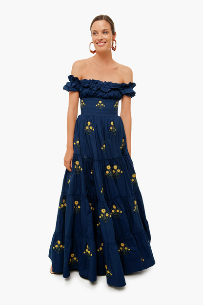 embroidered azucar dress