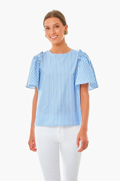 striped mollie top