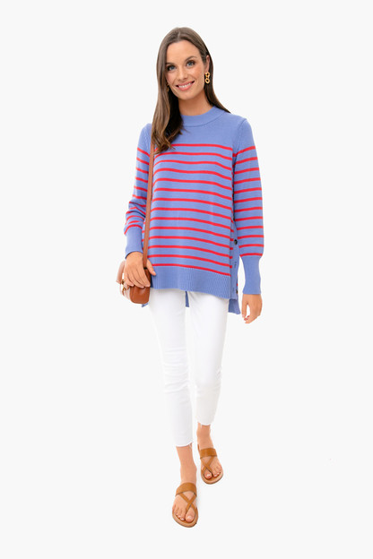 starboard blue bar harbor striped sweater