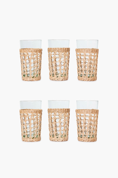 seagrass cage highball set of 6