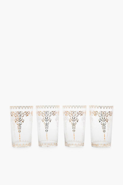 clear moroccan glasses set of 4