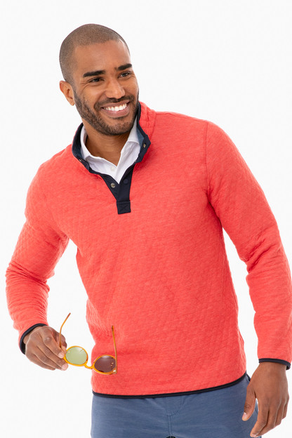 red heather corbet reversible pullover