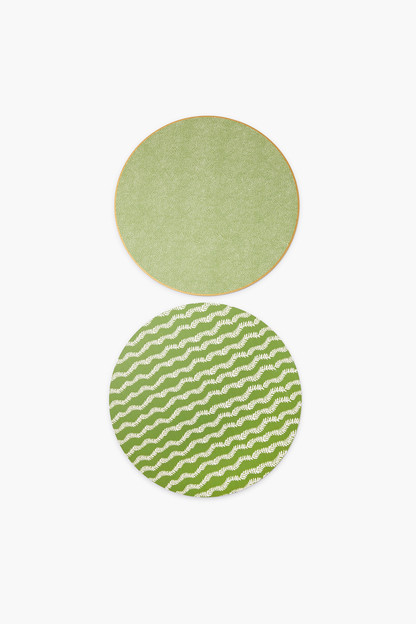 Reversible Green Floral Placemats Set of 2