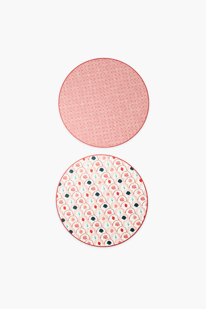 reversible red shells placemats set of 2
