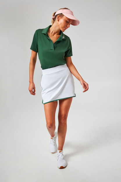 Botanical Embroidered Grass Green Polo