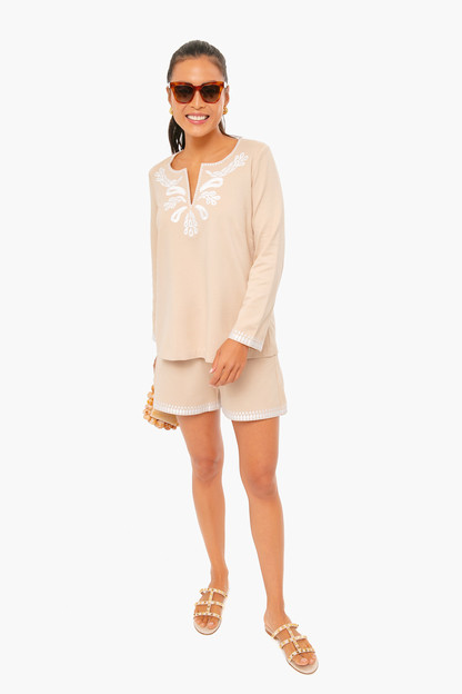 miguelina embroidered top