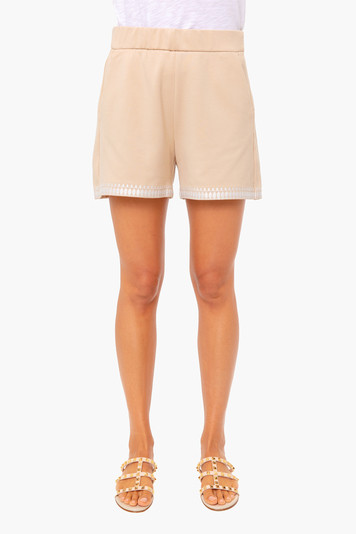 miguelina embroidered shorts
