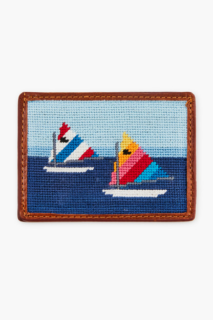 day sailor needlepoint card wallet