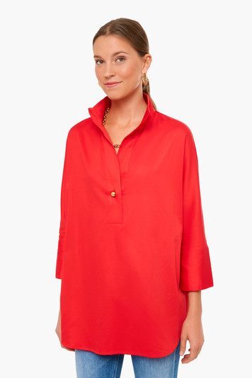 poppy red willow blouse