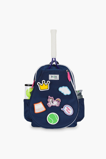 kids little patches tennis backpack