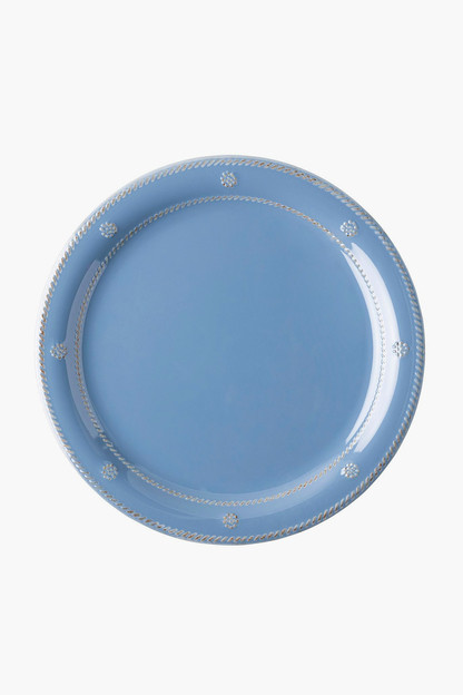 chambray berry and thread melamine dinner plate
