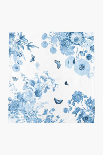 field of flowers chambray napkin